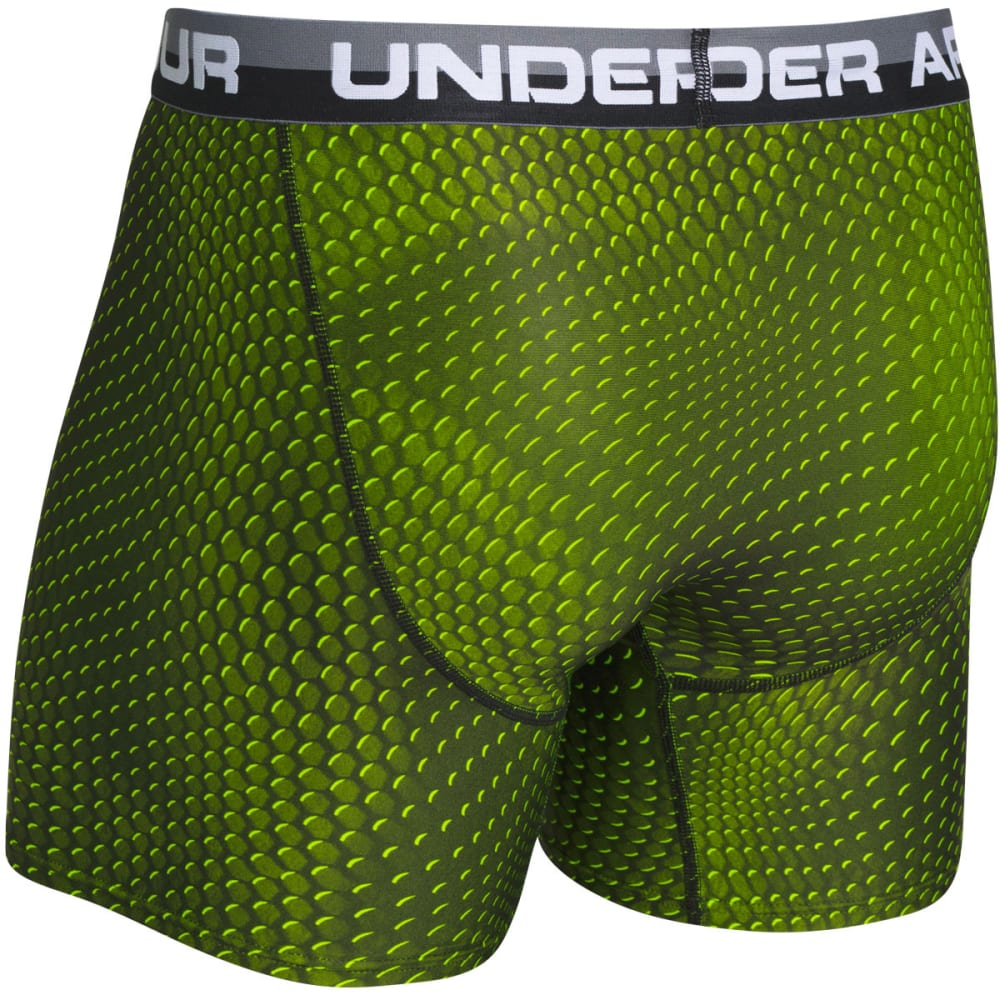 UNDER ARMOUR Men's Original Series Printed Boxerjock® Boxer Briefs - HIGH VIS YELLOW