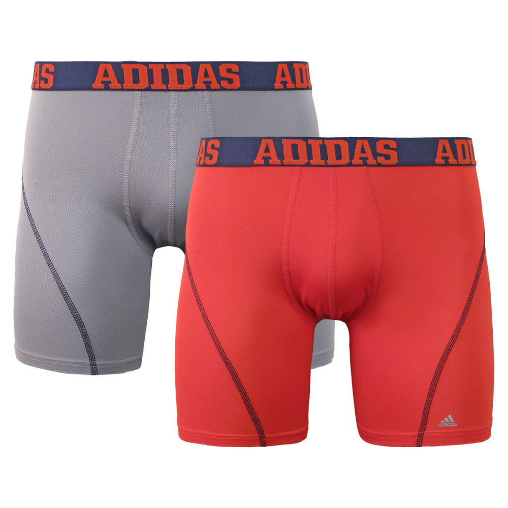ADIDAS Men's 2-Pack Sport Performance ClimaCool Briefs - BIRCH/CORAL