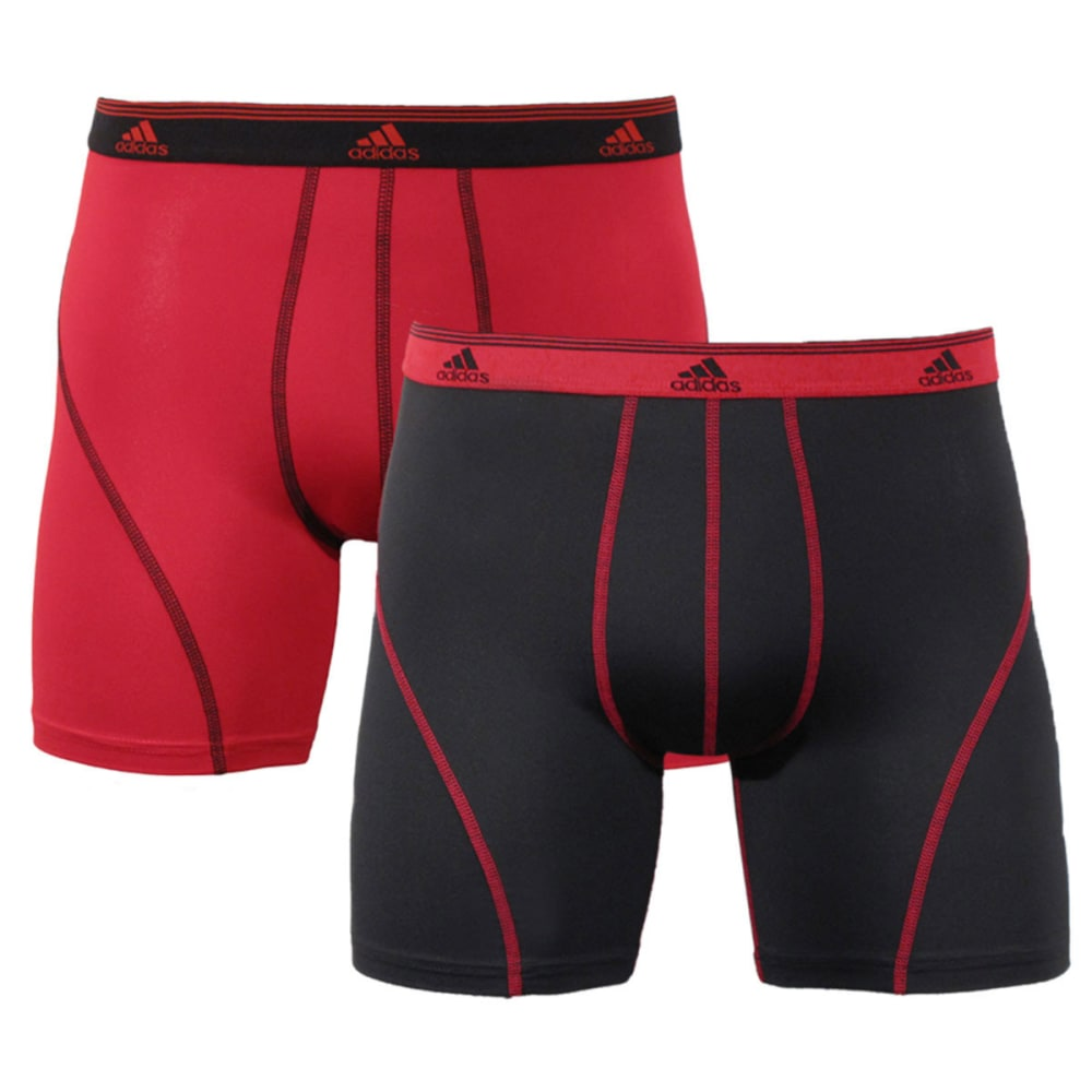 ADIDAS Men's Sport Performance Climalite® Boxer Briefs, 2-Pack - RED/BLACK