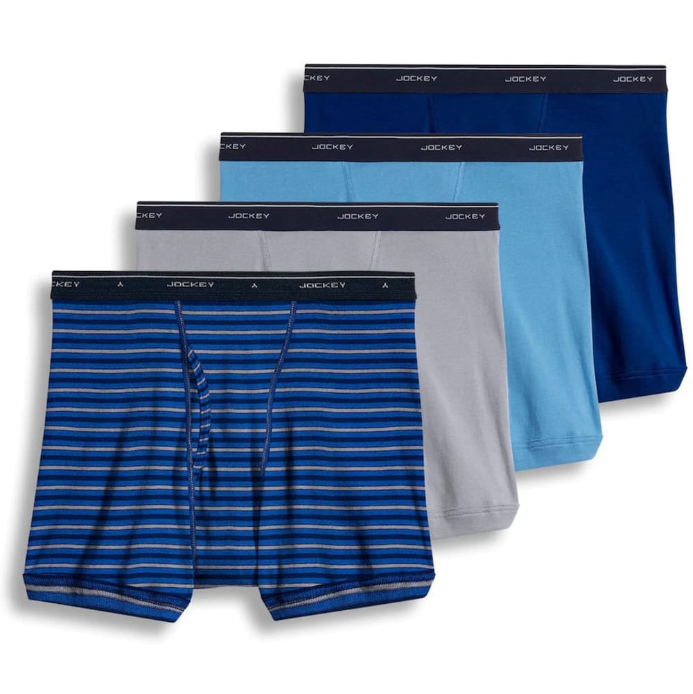 JOCKEY Men's Classic Boxer Briefs, 4 Pack - HORIZON BLUE