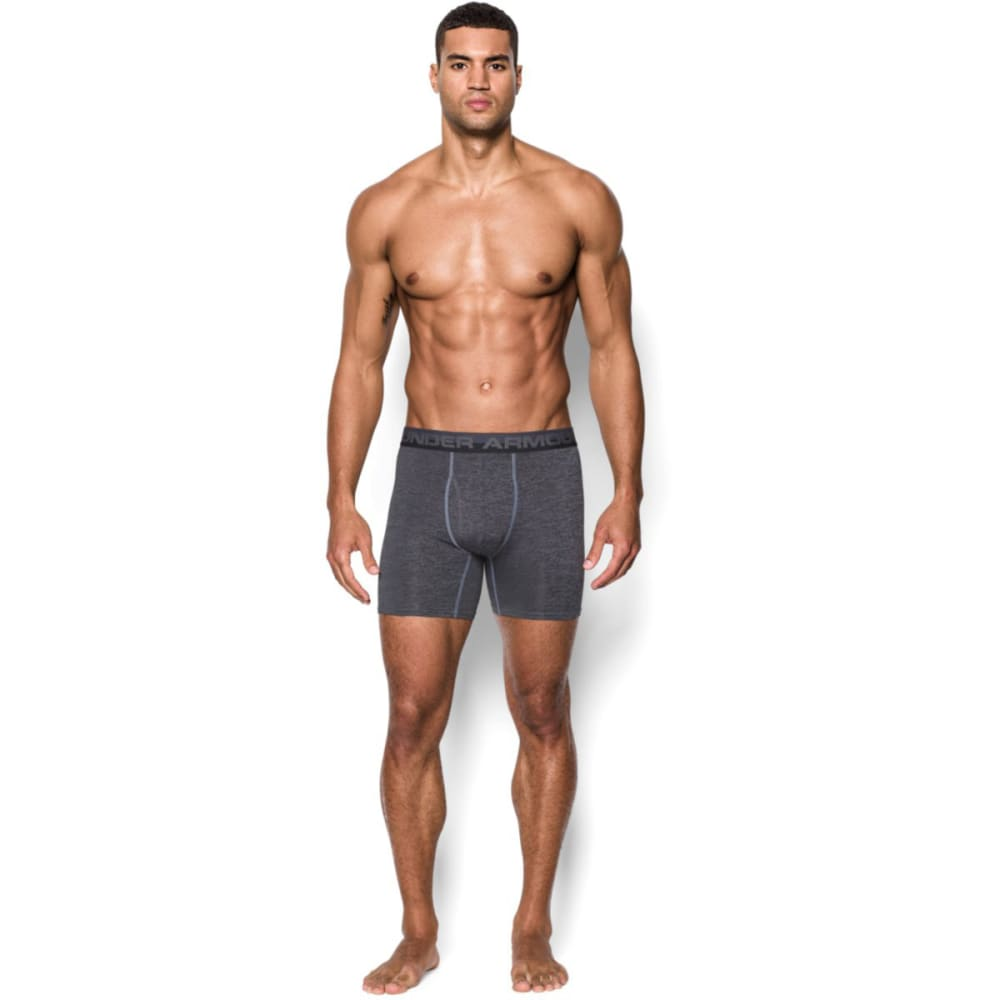 UNDER ARMOUR Men's Original Series Printed Twist Boxerjock® Underwear - STEEL/BLACK