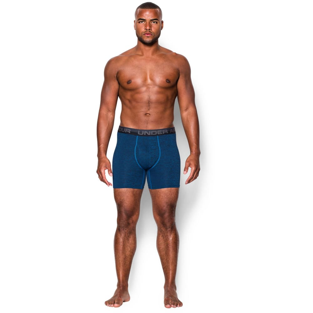 UNDER ARMOUR Men's Original Series Printed Twist Boxerjock® Underwear - BLUE JET/BLACK