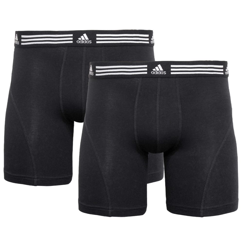 ADIDAS Men's Athletic Stretch Boxer Briefs, 2-Pack - BLACK