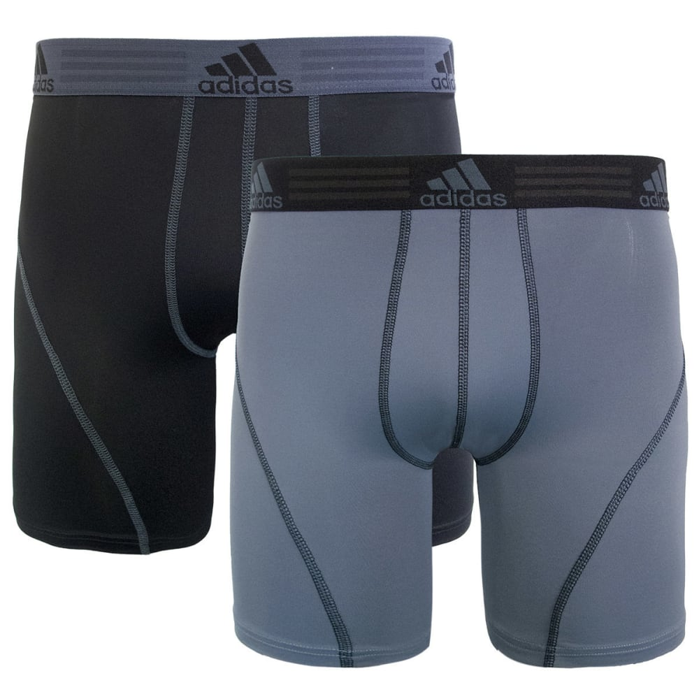 ADIDAS Men's Sport Performance Climacool Midway Boxer Briefs, 2-Pack - BLACK/GREY