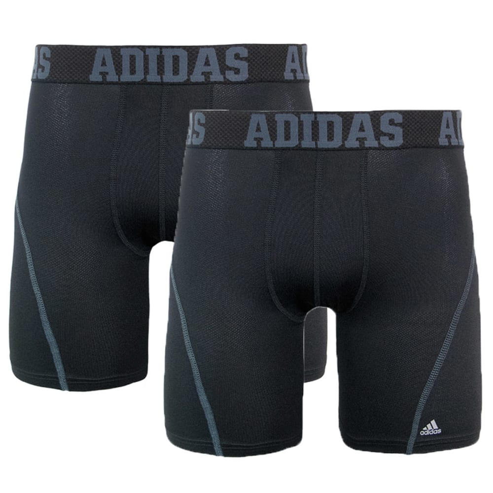 ADIDAS Men's Sport Performance Climacool Micro Mesh Midway Boxer Briefs, 2-Pack - BLACK/BLACK
