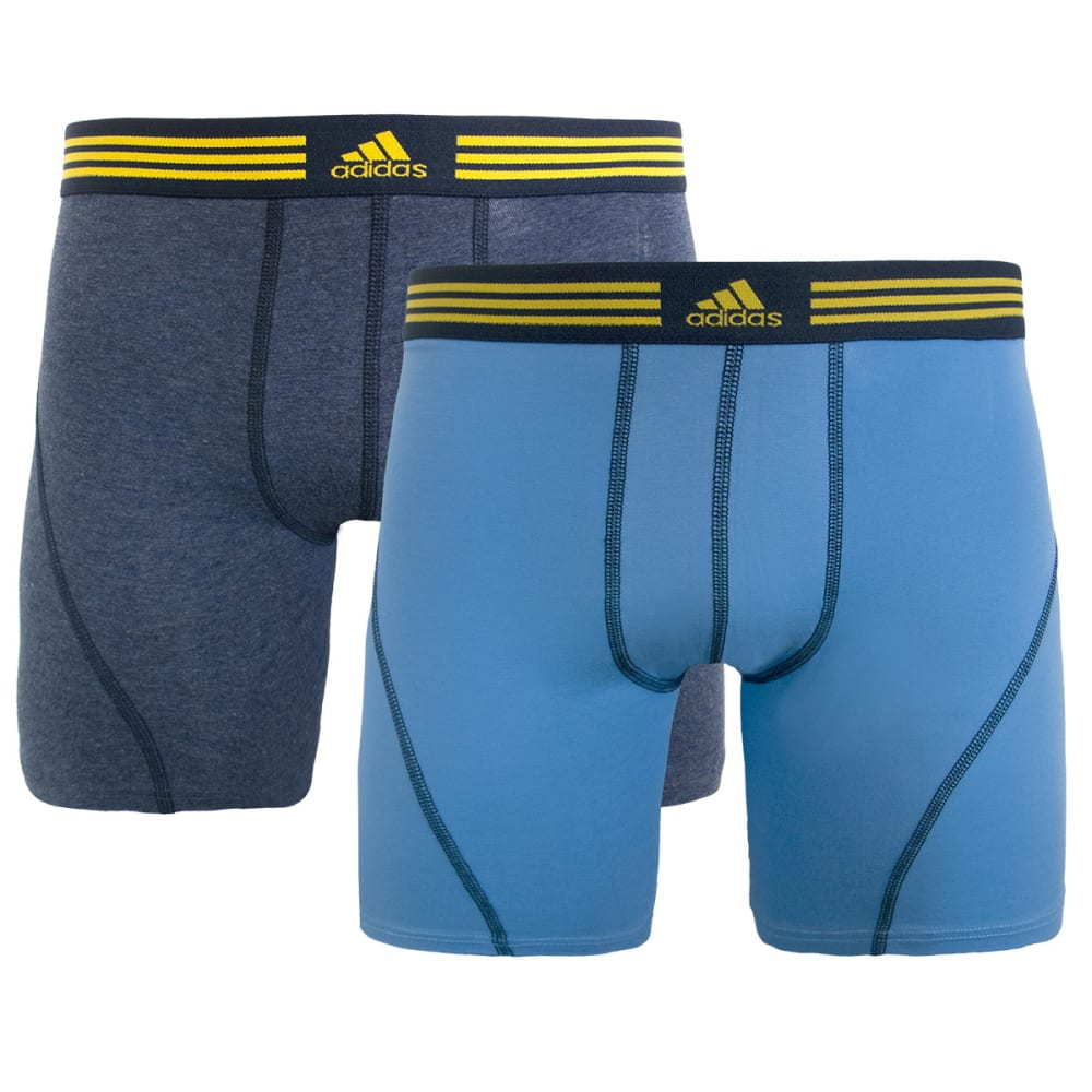 ADIDAS Men's ClimaLite Athletic Stretch Boxer Briefs, 2-Pack - DARK GREY/BLUE