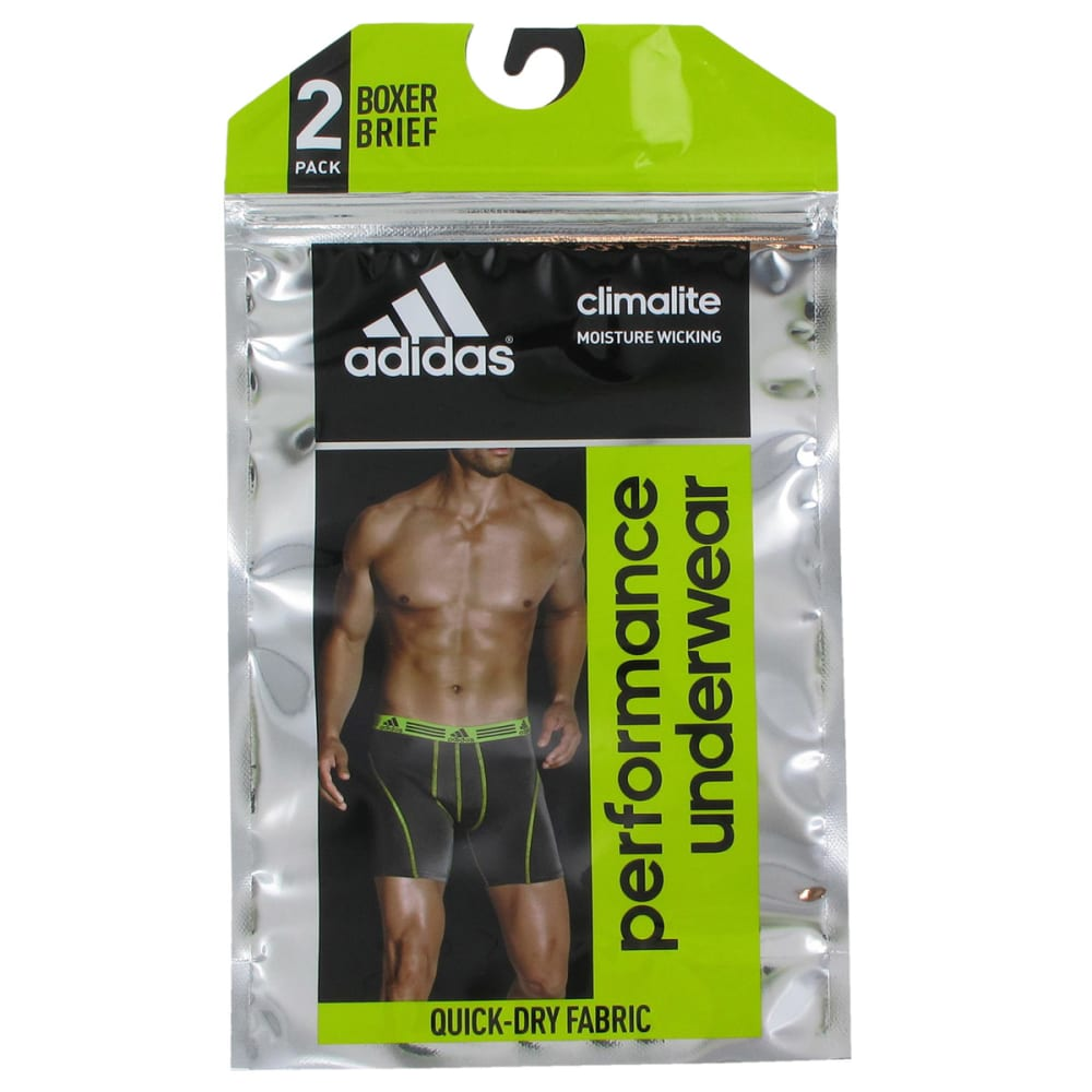 ADIDAS Men's Sport Performance ClimaLite Boxer Briefs, 2-Pack - BLACK/BLUE