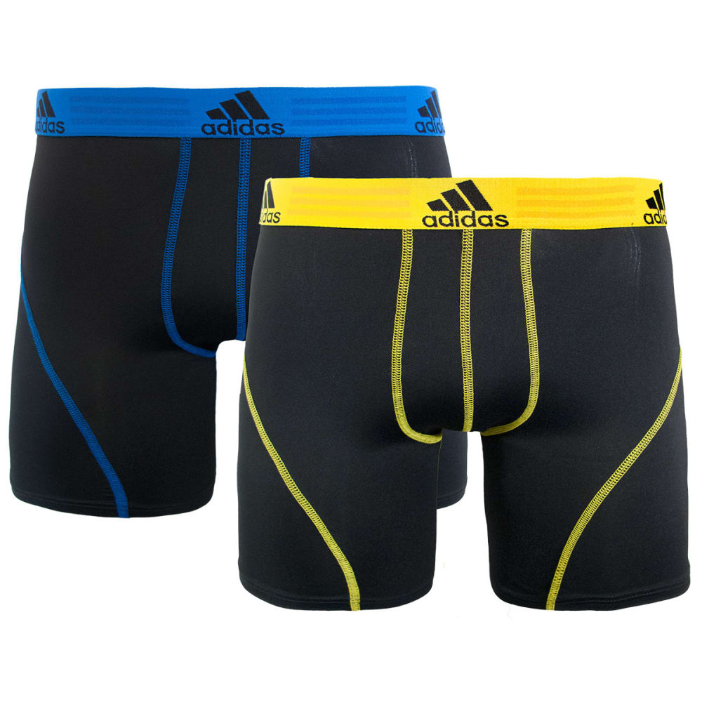 Adidas Men's Sport Performance Climalite Boxer Briefs, 2-Pack - Black, S