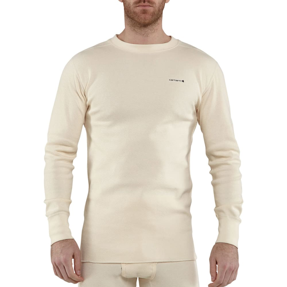 Carhartt Men's Base Force Super-Cold Weather Crewneck Top - White, M