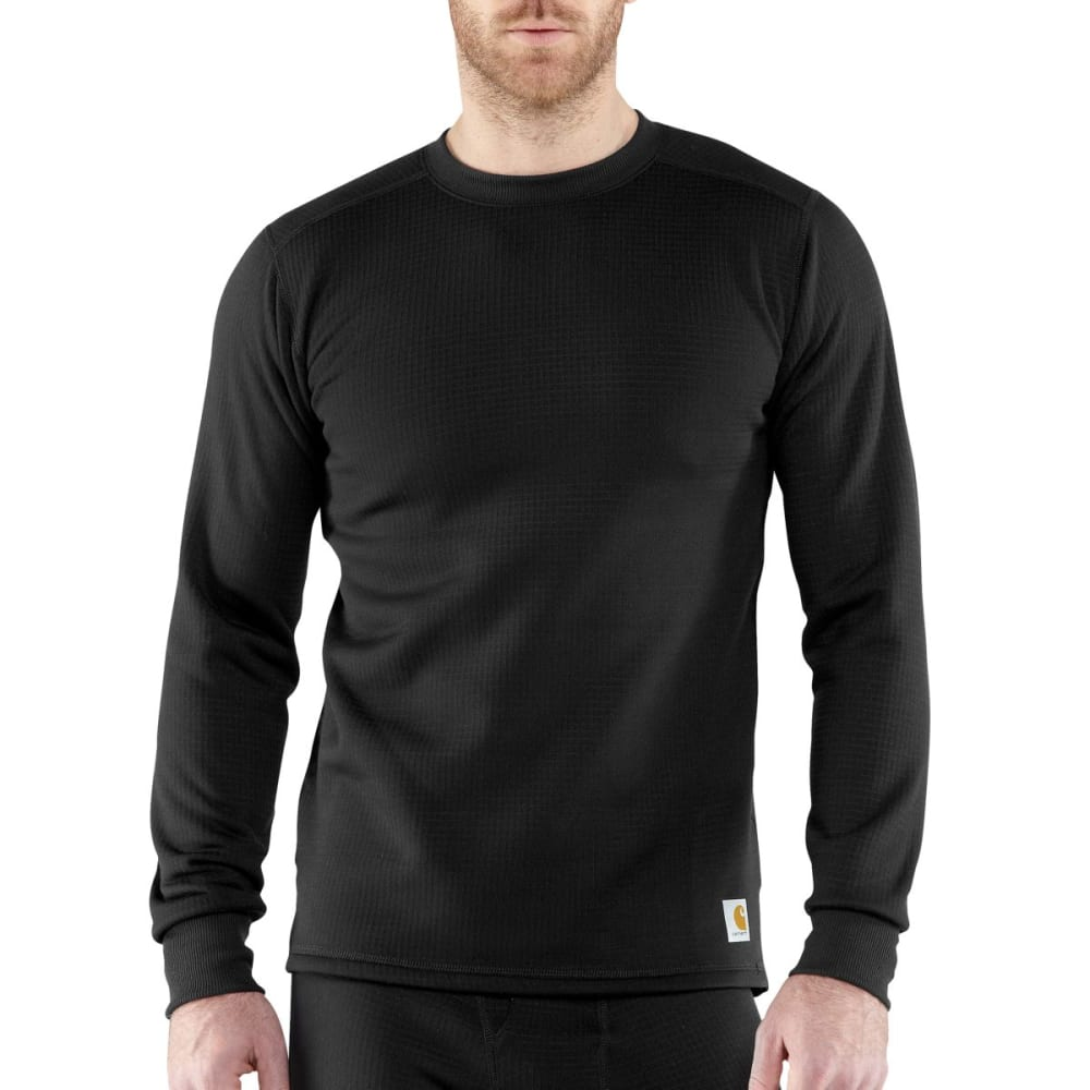 CARHARTT Men's Base Force™ Super-Cold Weather Crewneck Top - BLACK