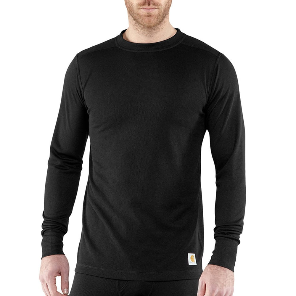 Carhartt Men's Base Force Cold Weather Crewneck Top - Black, L