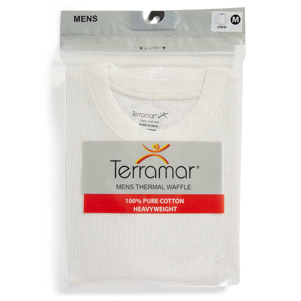 TERRAMAR Men's Waffle Thermal Top - NATURAL