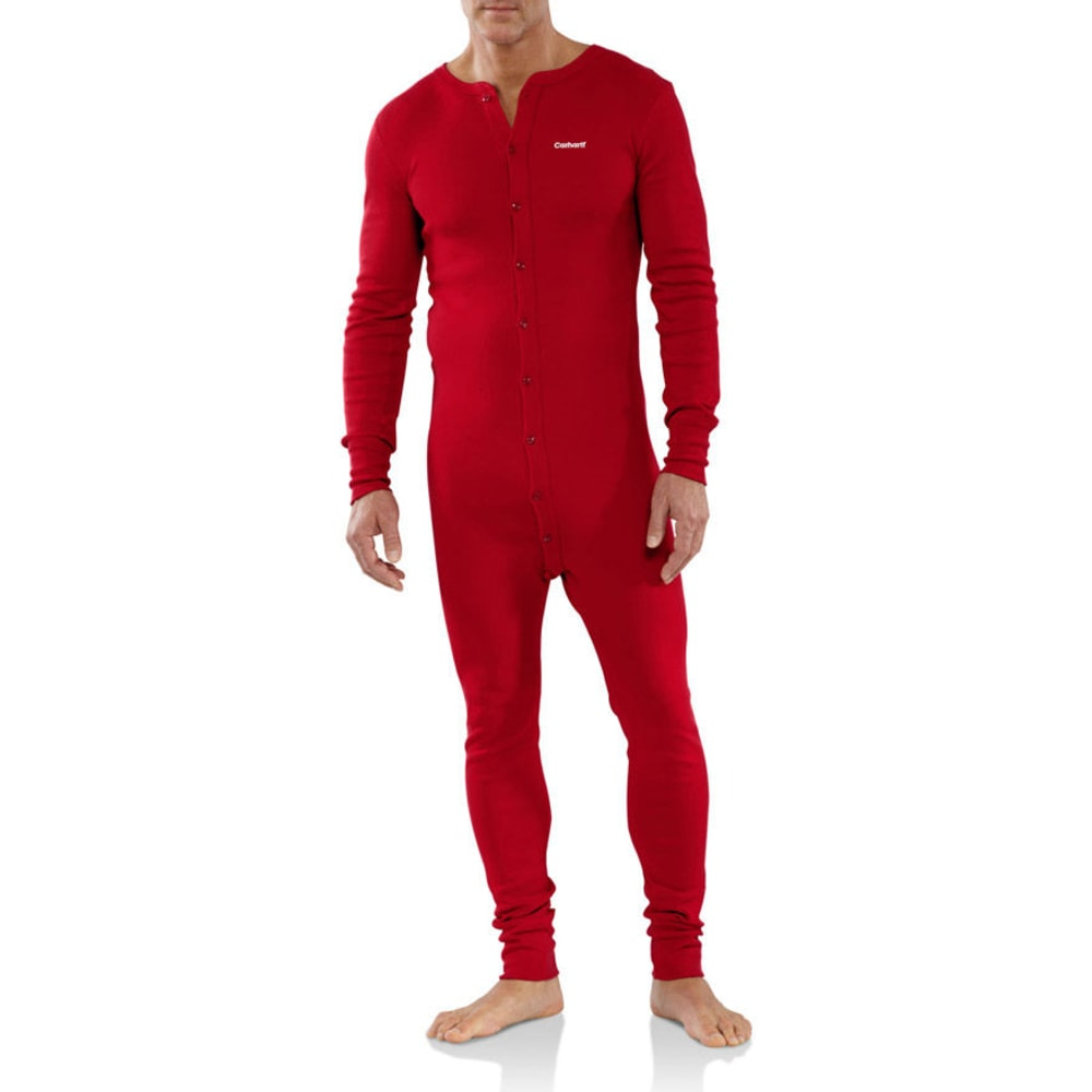 CARHARTT Men's Midweight Cotton Union Suit - RED