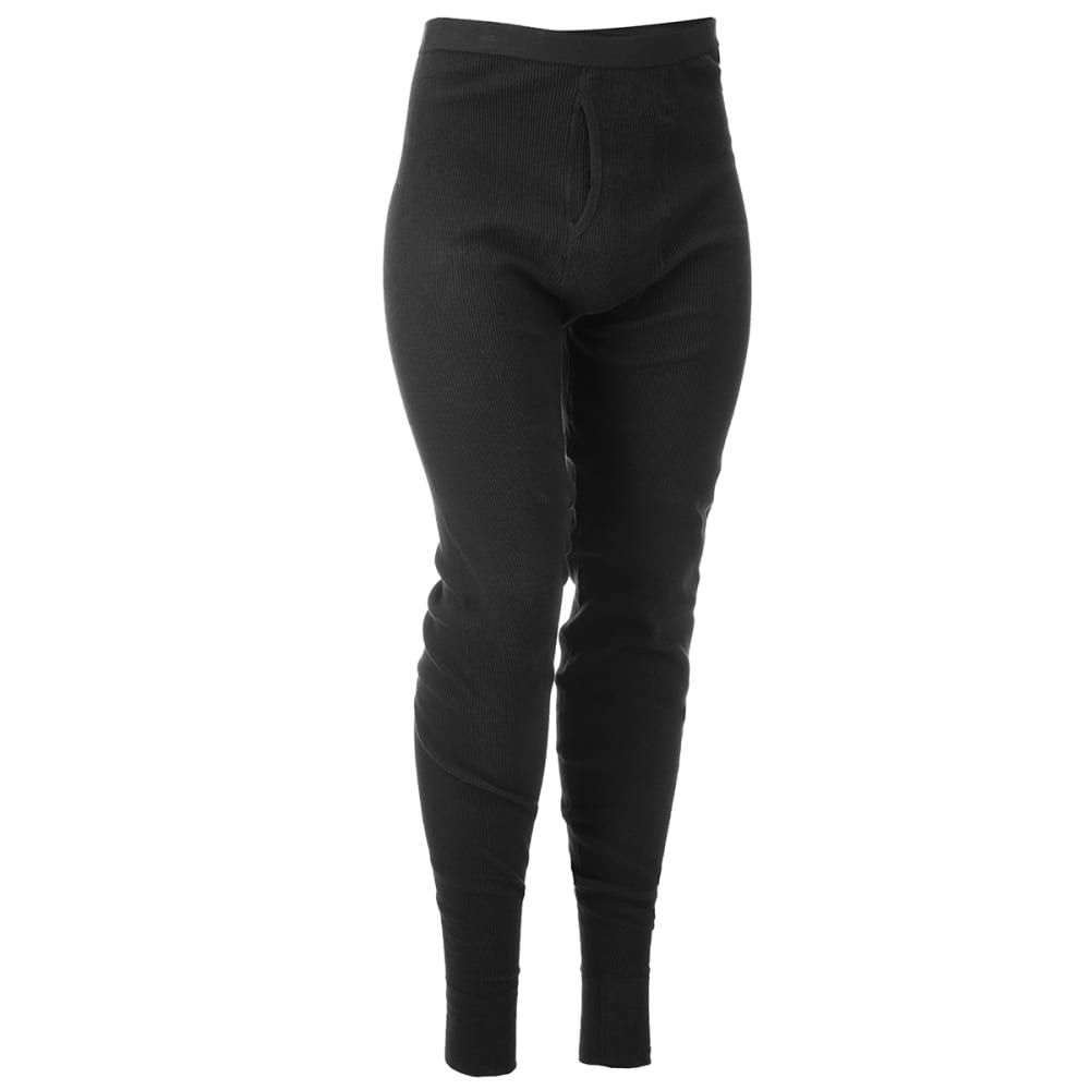 TERRAMAR Men's Cotton Waffle Pants - BLACK