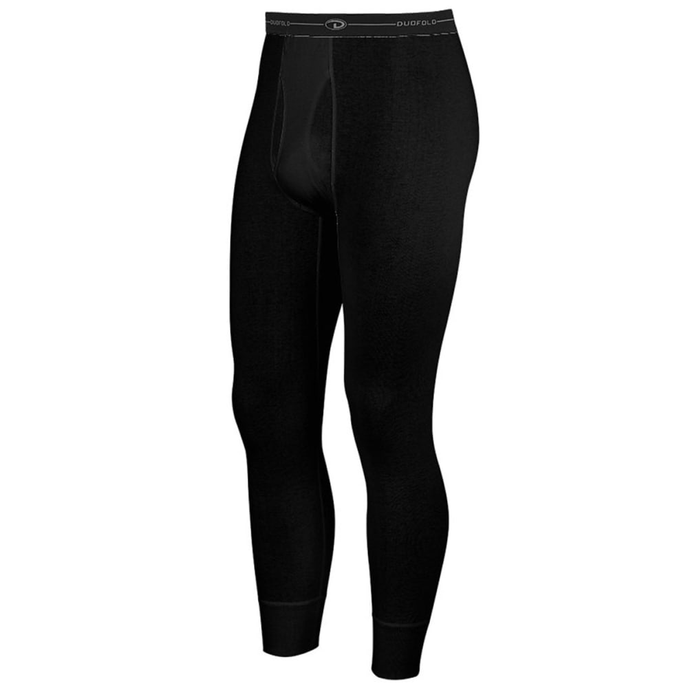 DUOFOLD Men's Mid-Weight Ankle-Length Thermal Pants - TRUE BLACK