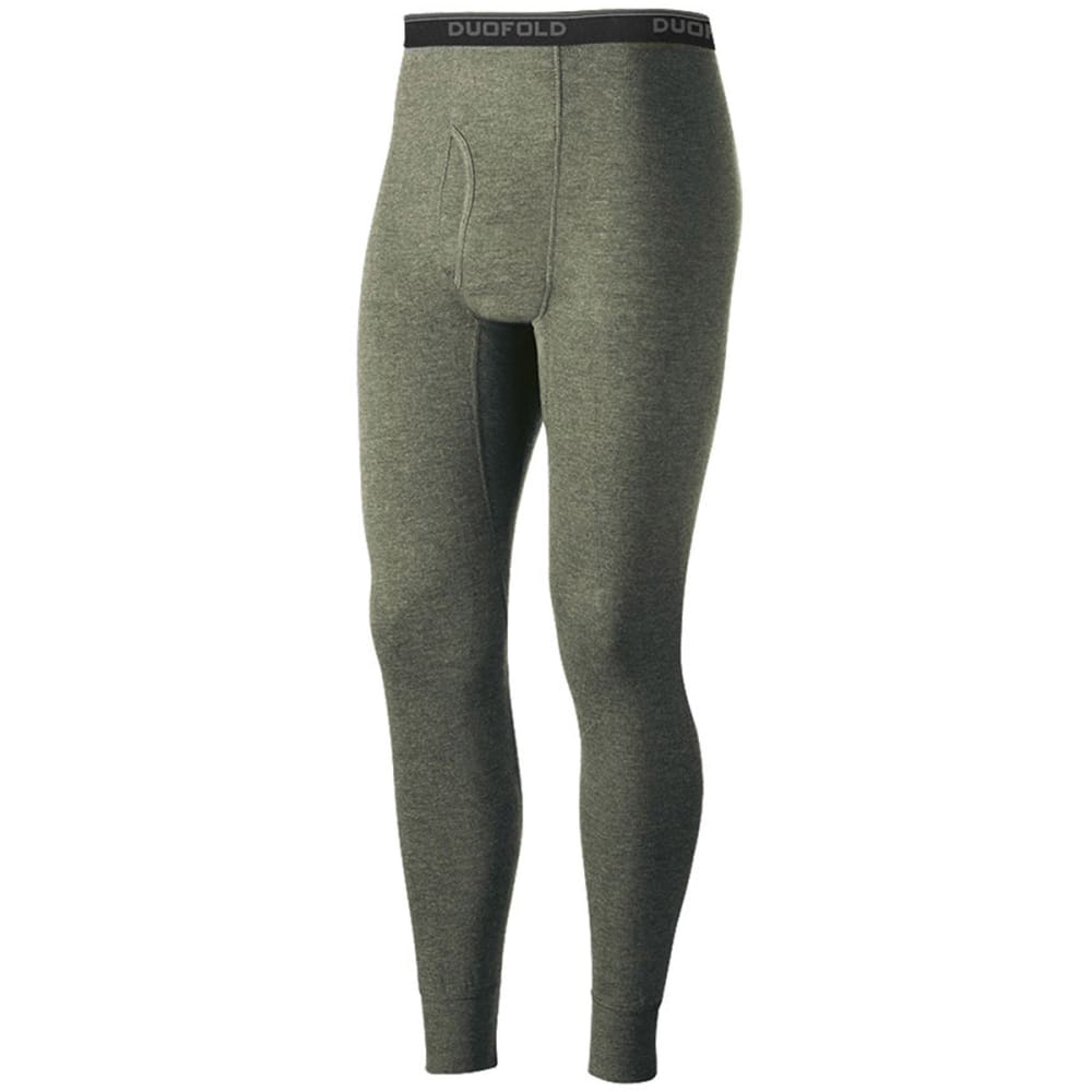 DUOFOLD Men's Mid-Weight Ankle-Length Thermal Pants - okv- OLIVE