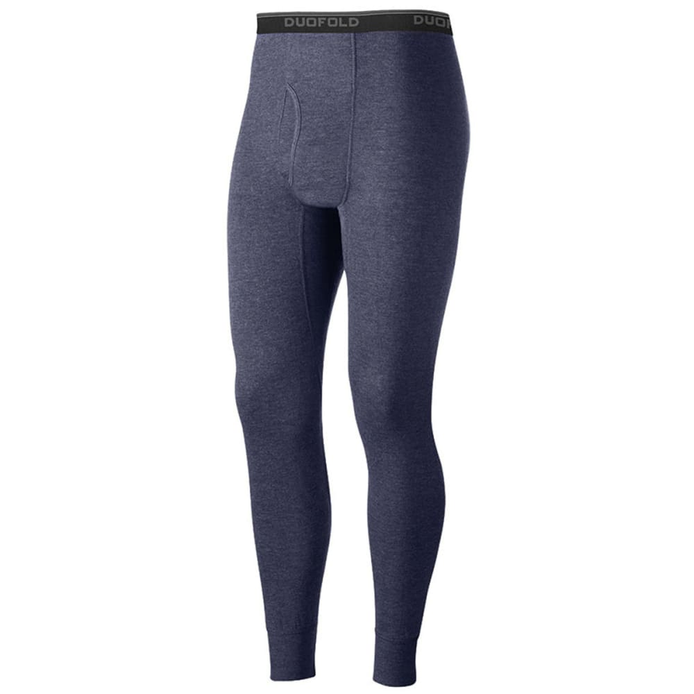 DUOFOLD Men's Mid-Weight Ankle-Length Thermal Pants - bnk-BLUE JEAN