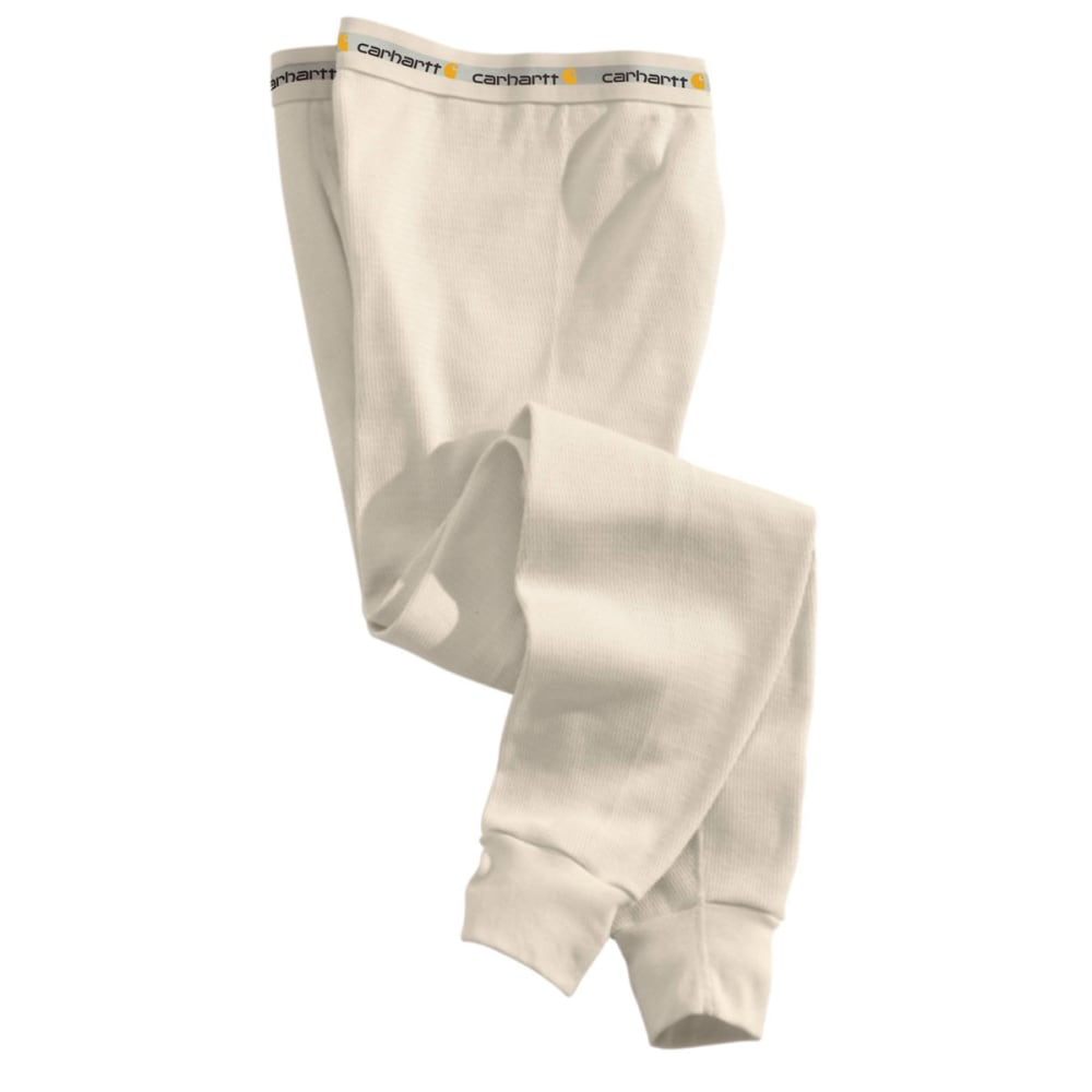 CARHARTT Men's Base Force Cotton Super-Cold Weather Bottoms - NATURAL 103