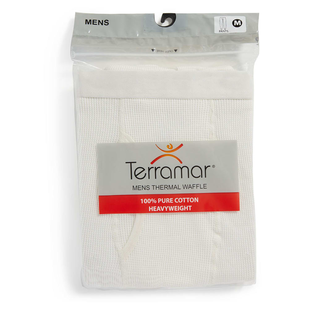 TERRAMAR Men's Cotton Waffle Pants - NATURAL