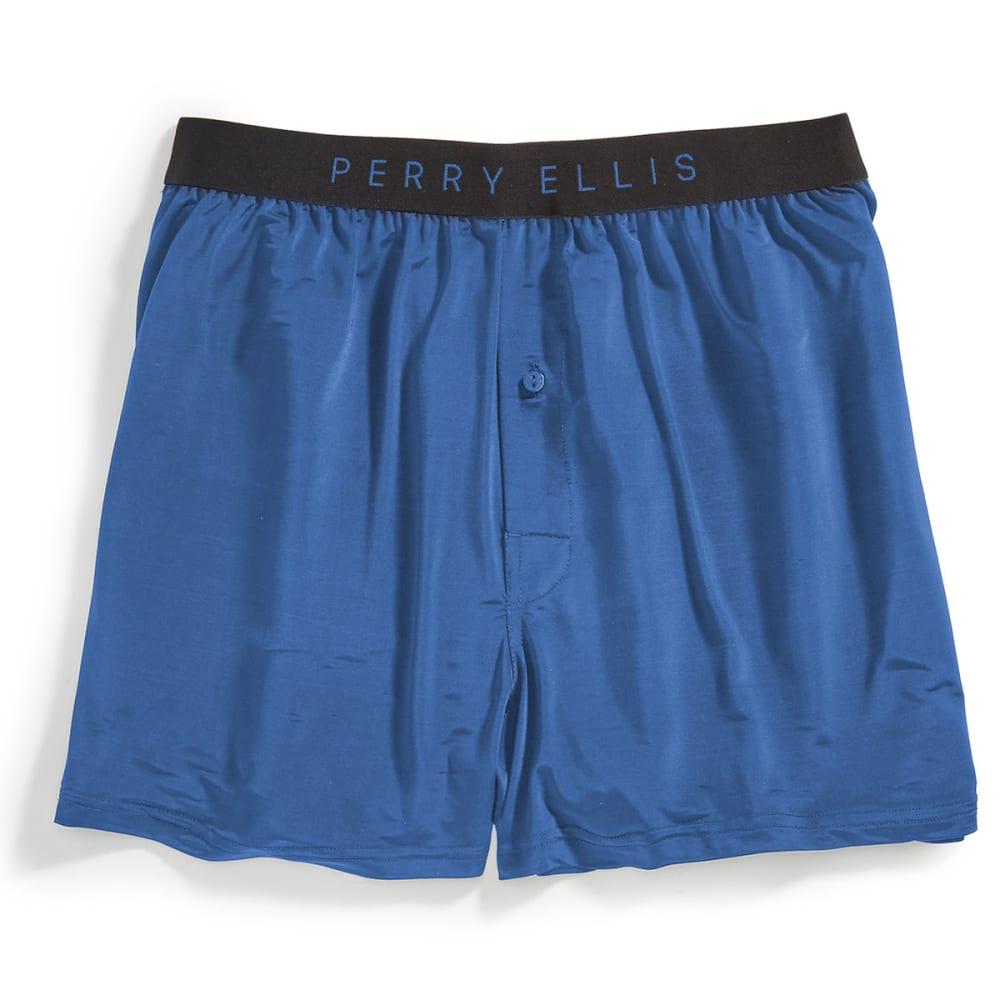 PERRY ELLIS Men's Luxe Boxer Shorts - STORJM BLUE 437