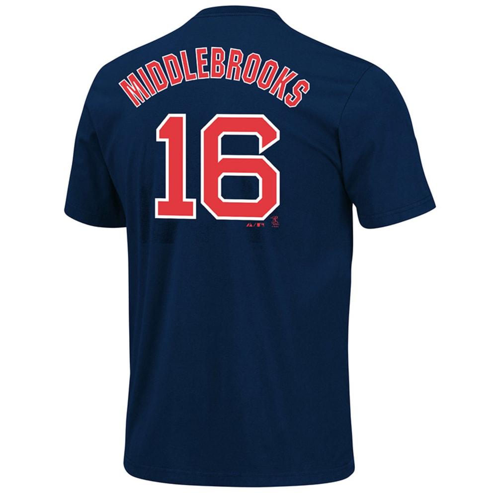BOSTON RED SOX Boys' Middlebrooks # 16 Tee  - NAVY