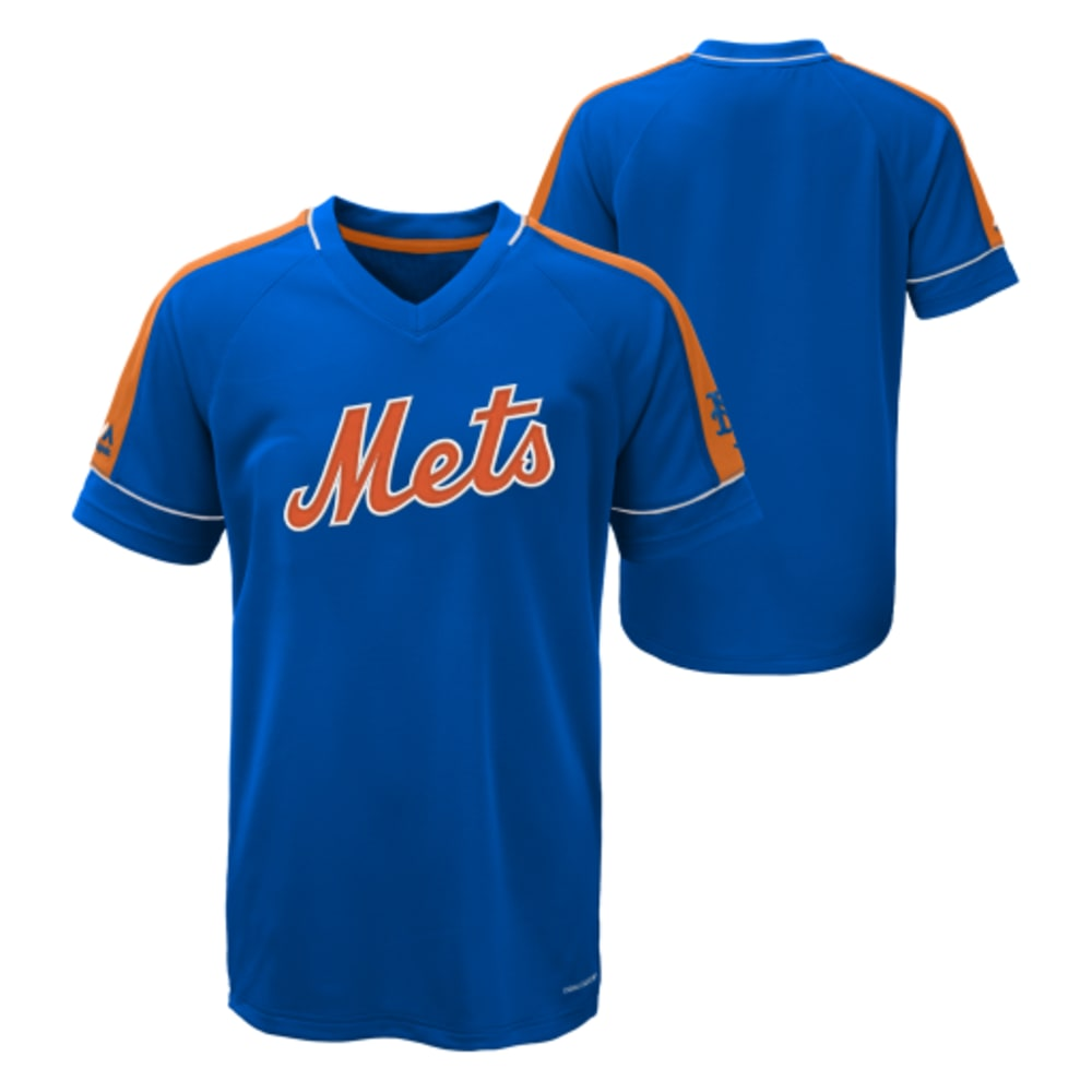 NEW YORK METS Boys' Lead Hitter V-Neck Tee - METS
