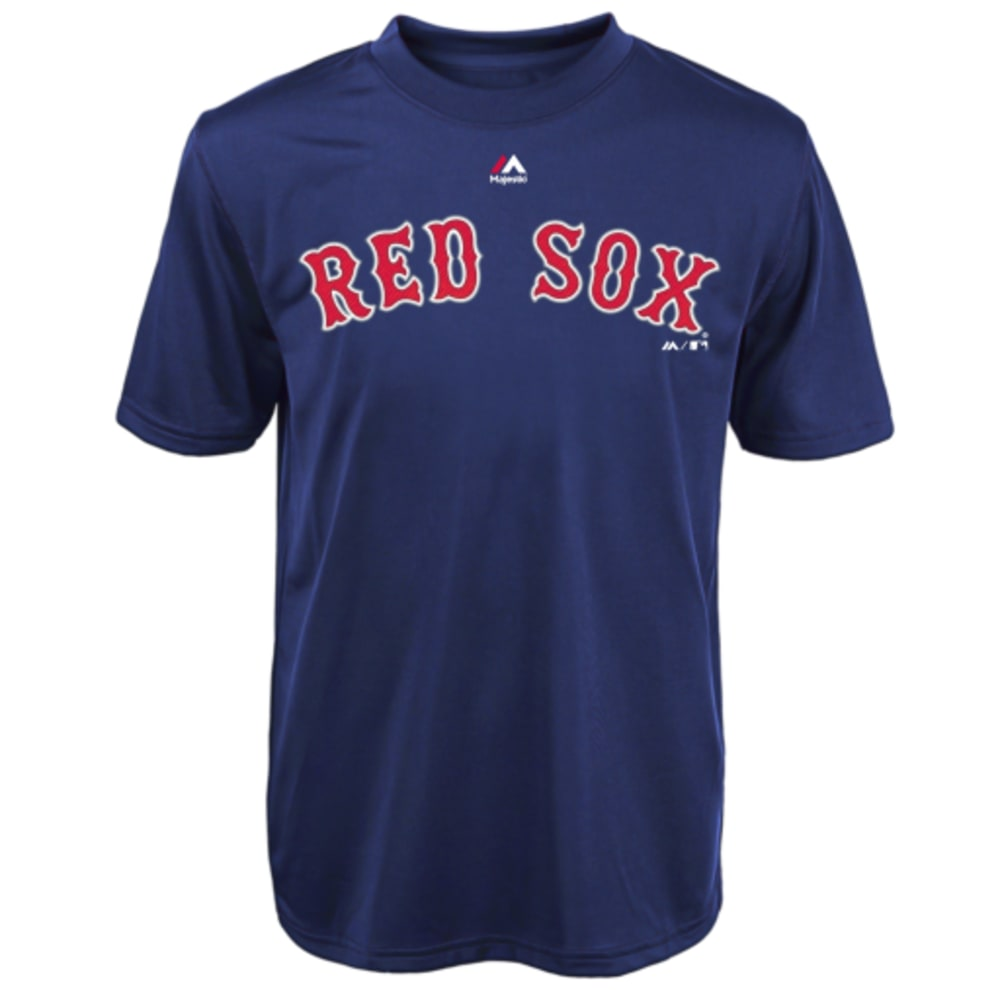 BOSTON RED SOX Boys' Wordmark Crew Neck Tee - RED SOX