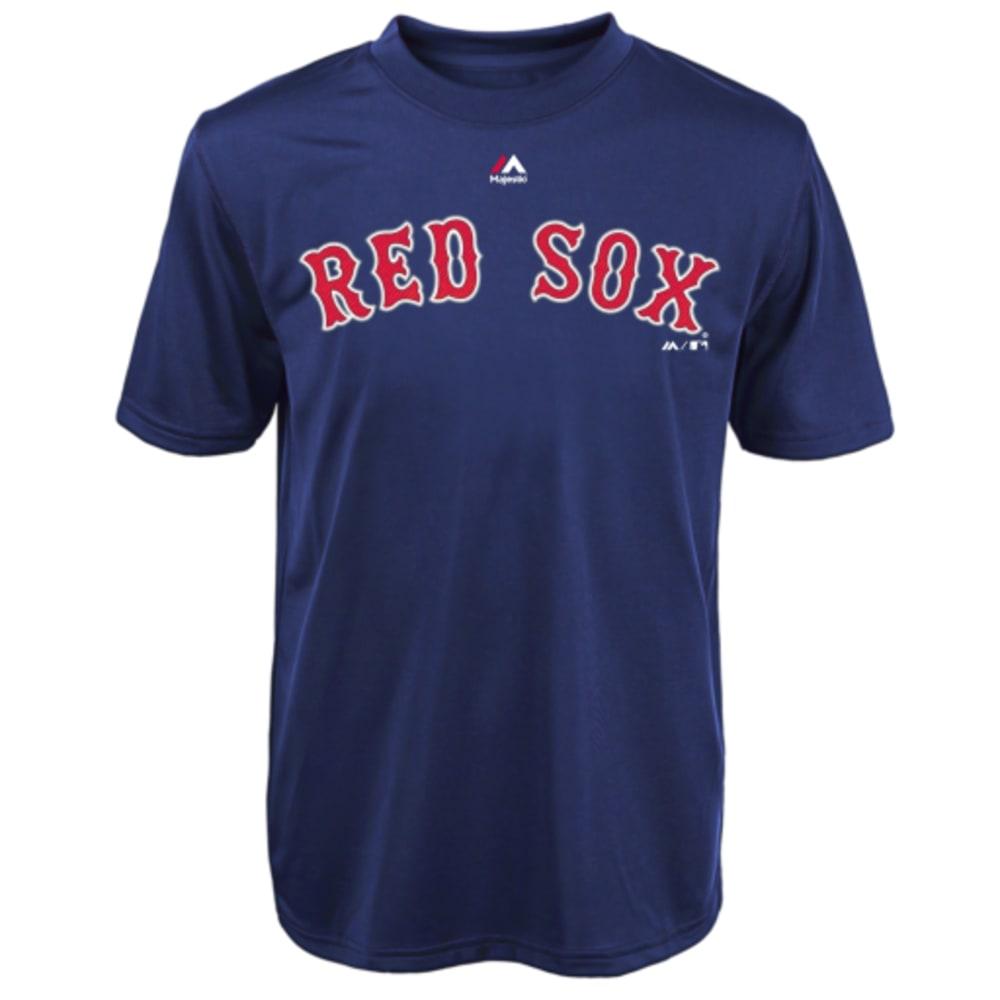 BOSTON RED SOX Boys' Wordmark Crew Neck Tee - RED SOX