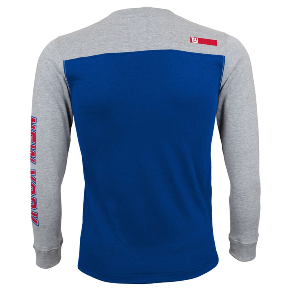 Outerstuff- Giants L/s Three Hit Tee - ROYAL/GREY