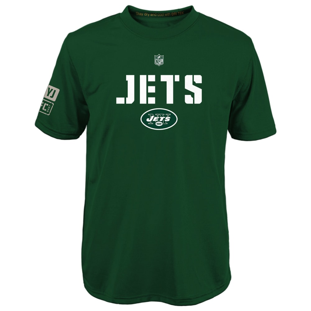 NEW YORK JETS Boys' Squadron Performance Short-Sleeve Tee - GREEN