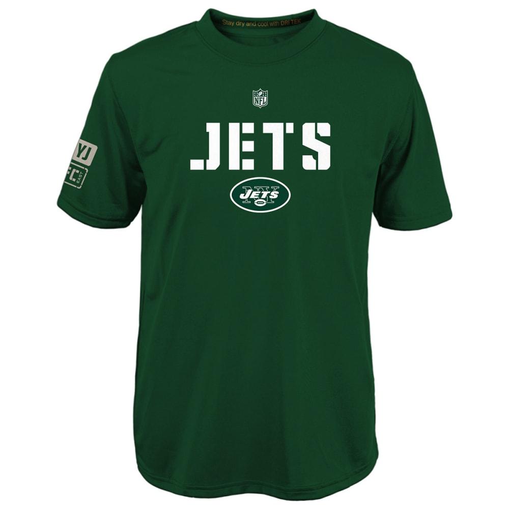 NEW YORK JETS Boys' Squadron Performance Short-Sleeve Tee - GREEN