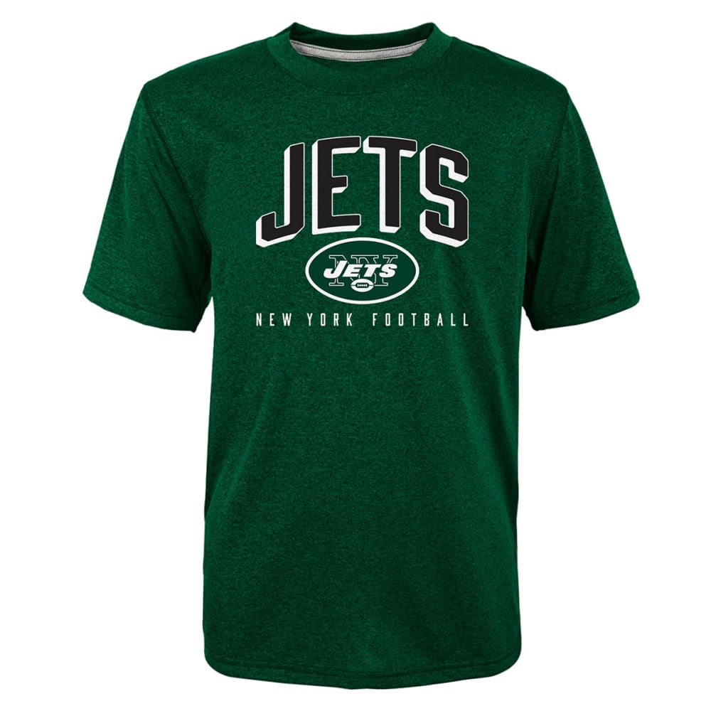 NEW YORK JETS Boys' Arch Performance Short-Sleeve Tee S