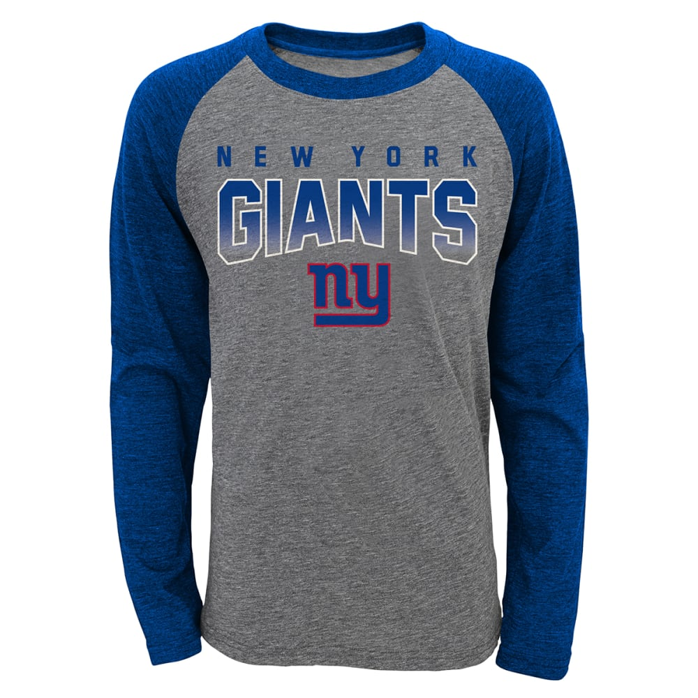 NEW YORK GIANTS Boys' Team Pride Long-Sleeve Raglan - GREY