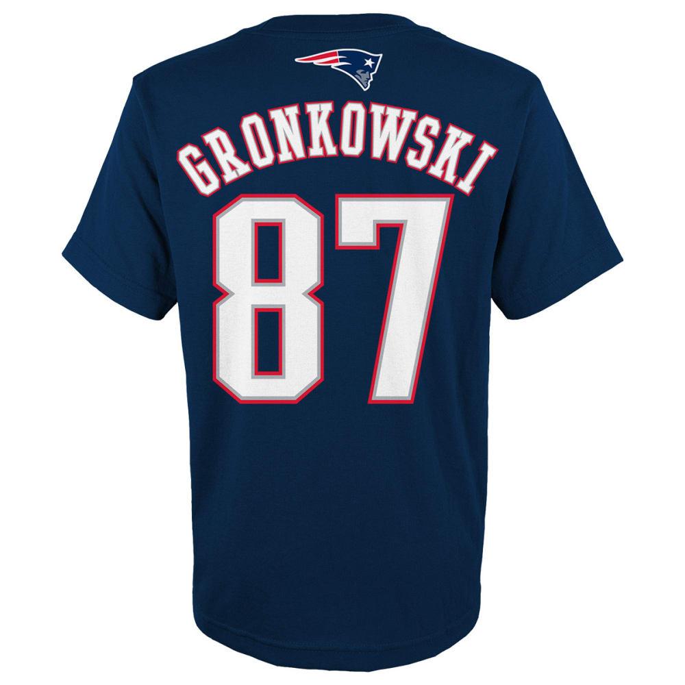 NEW ENGLAND PATRIOTS Boys' Gronkowski #87 Tee - NAVY