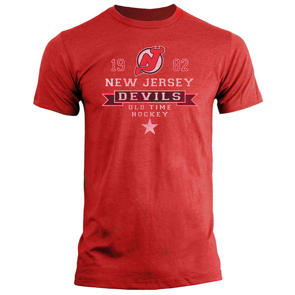 NEW JERSEY DEVILS Men's Igloo Heathered Fashion Tee, S/S - RED