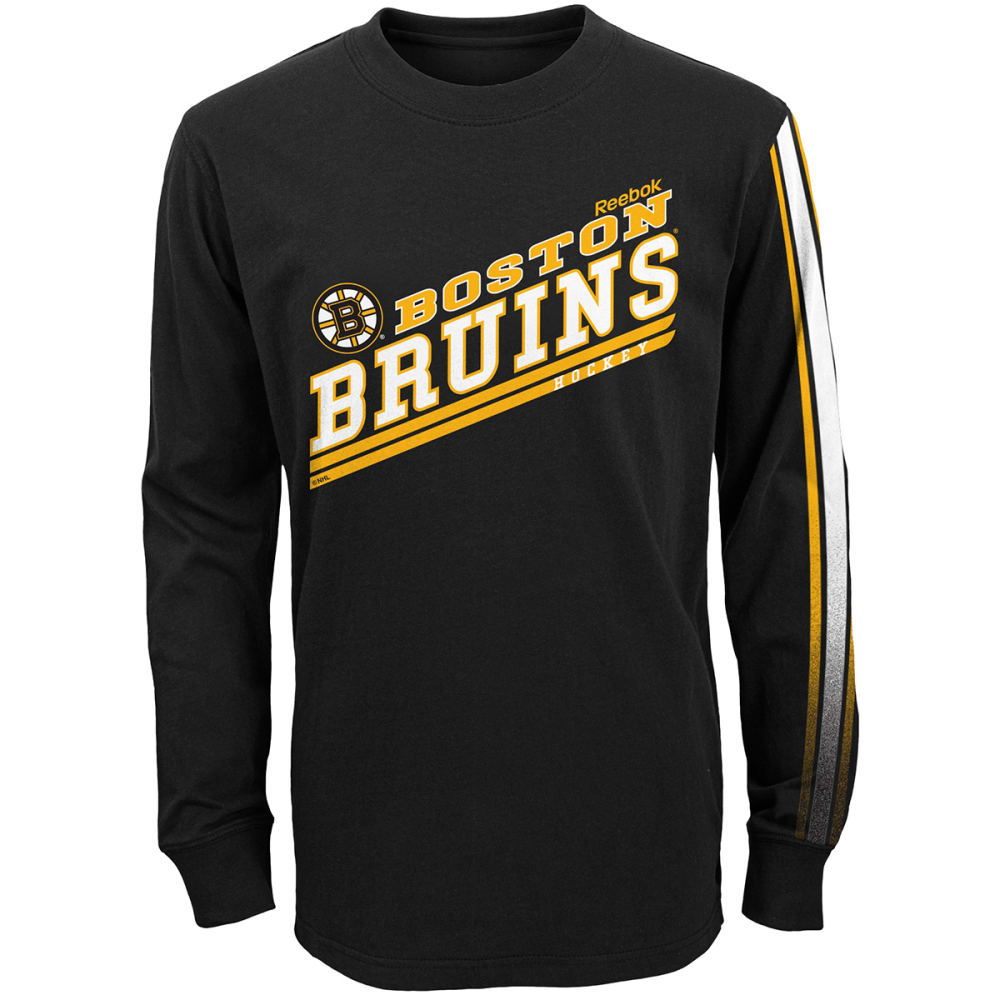 BOSTON BRUINS Boys' Classic Fade Combo Tee - GREY HOUNDSTOOTH