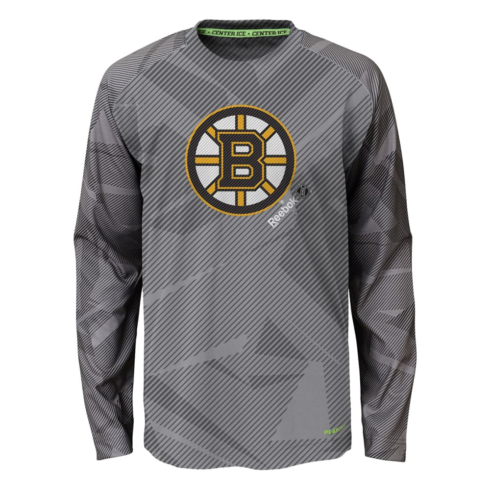 BOSTON BRUINS Boys' Reebok PlayDRY TNT Frost T-Shirt - BRUINS GRY