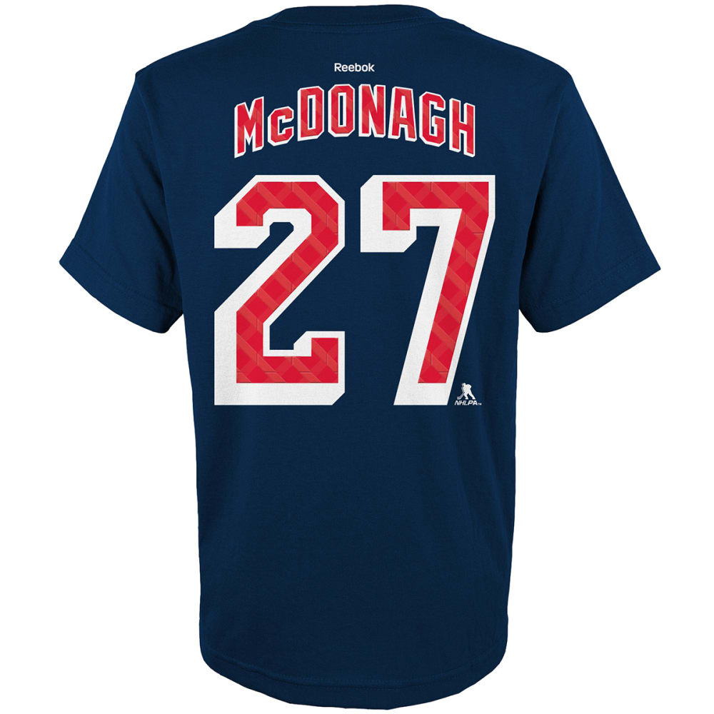 REEBOK Boys' New York Rangers Ryan McDonagh #27 Replica Jersey - DRAGONFLY
