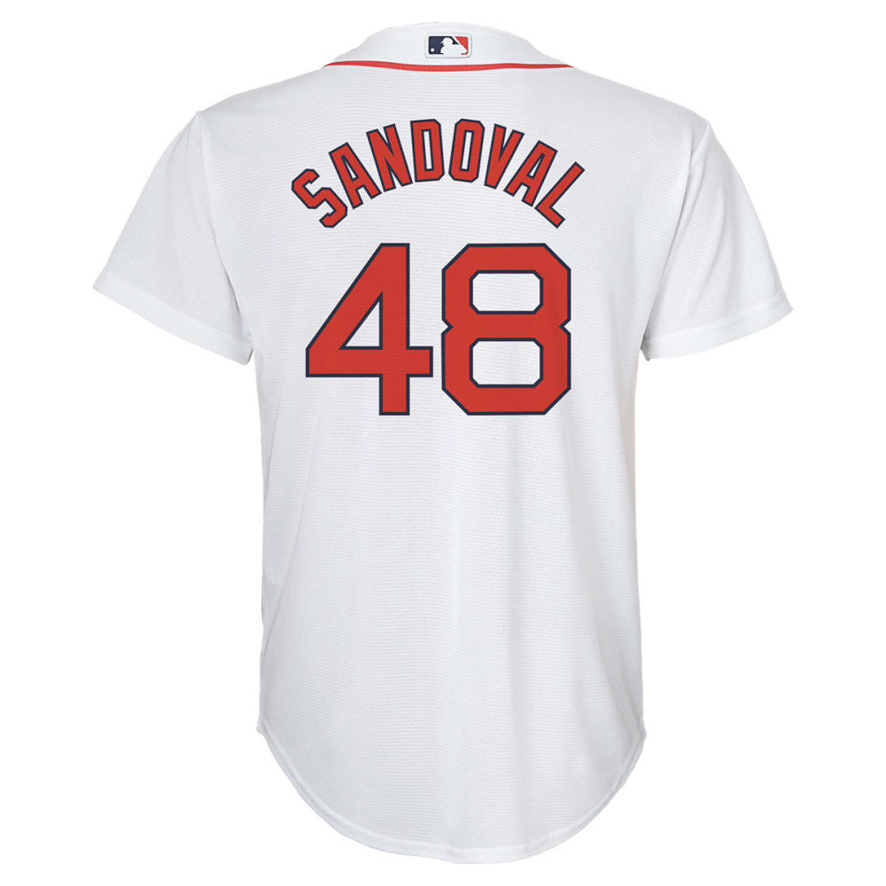 BOSTON RED SOX Boys' Pablo Sandoval, #48 Replica Jersey - WHITE