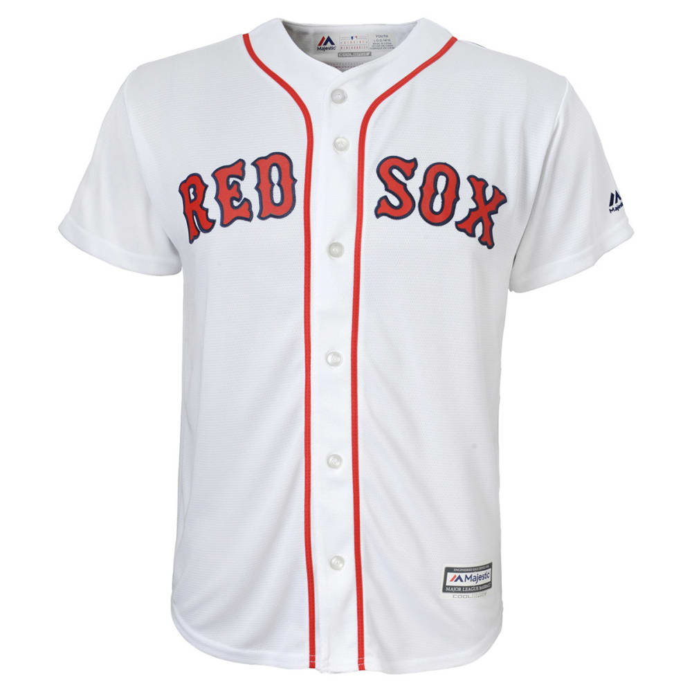 BOSTON RED SOX Boys' Mookie Betts #50 Cool Base Jersey - WHITE