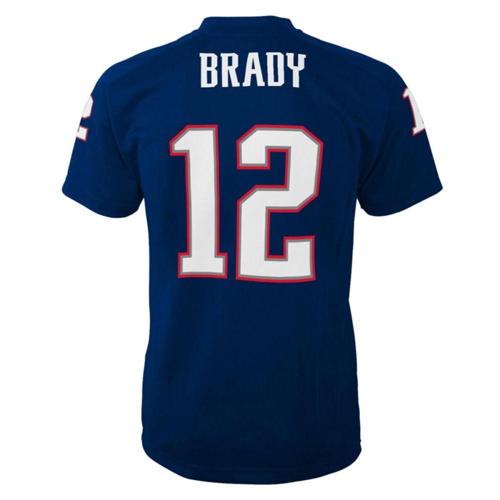 NEW ENGLAND PATRIOTS Kids' Tom Brady #12 Fashion Performance Jersey- PREMIER - NAVY