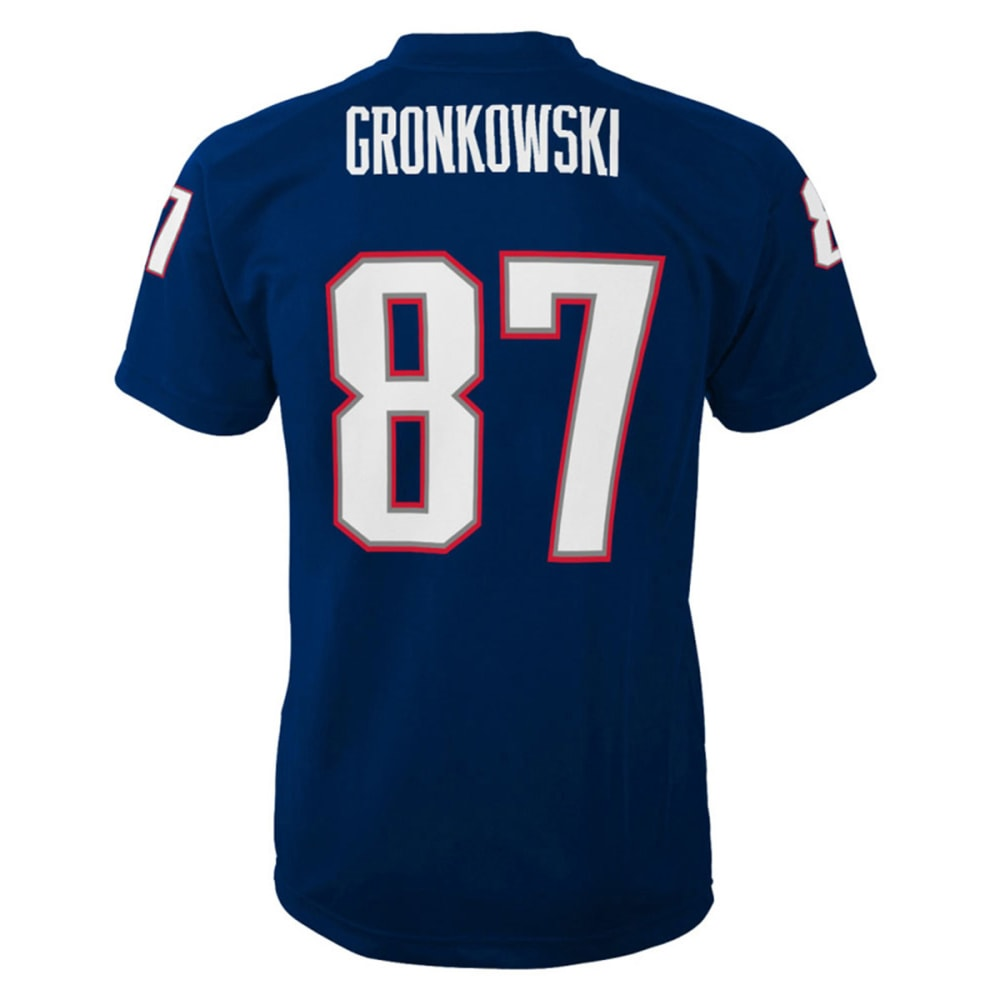 NEW ENGLAND PATRIOTS Boys' Rob Gronkowski #87  Fashion Performance Jersey - PREMIER - NAVY