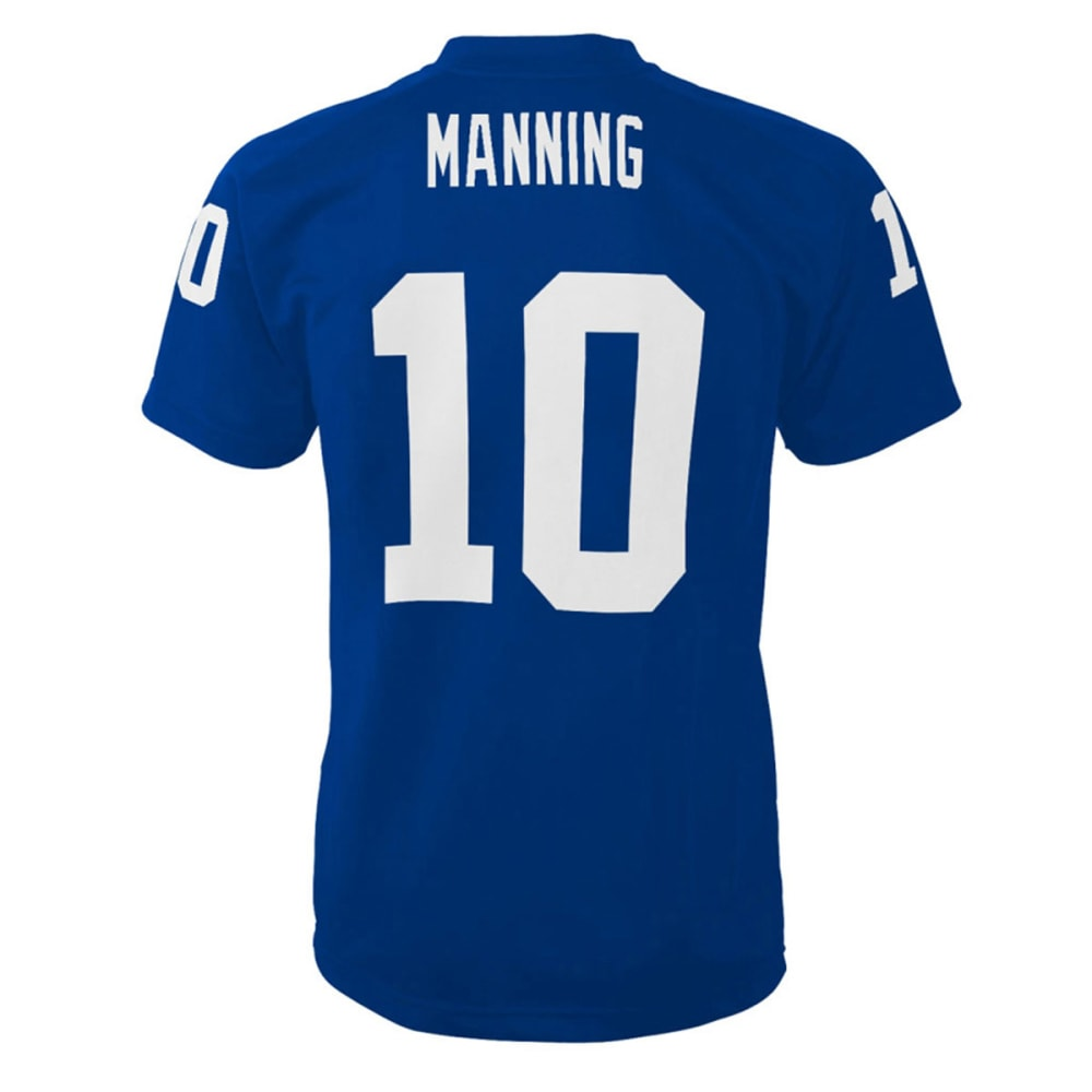 NEW YORK GIANTS Eli Manning #10 Youth Fashion Performance Jersey - PREMIER - BLUE