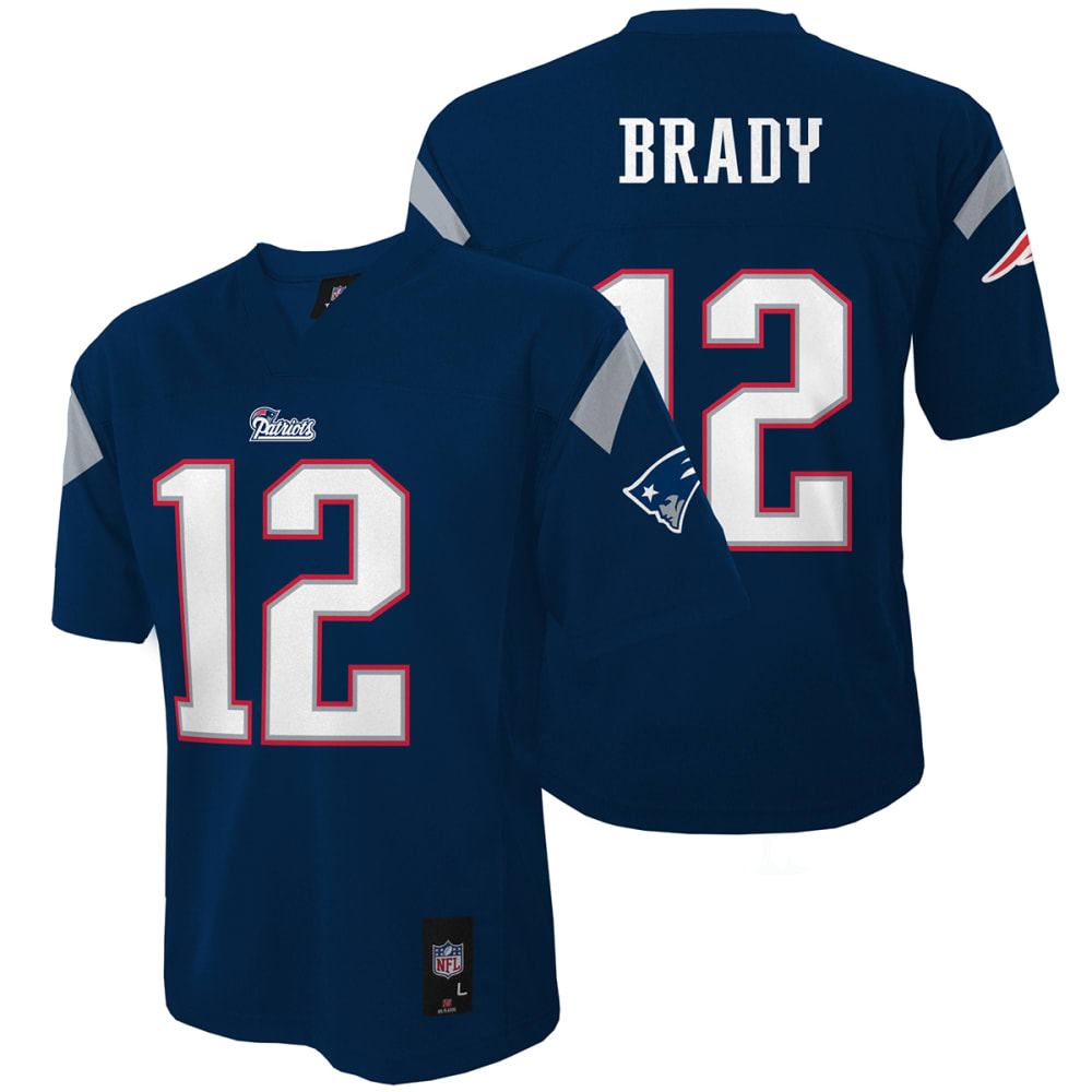 NEW ENGLAND PATRIOTS Boys' Brady #12 Replica Jersey - NAVY