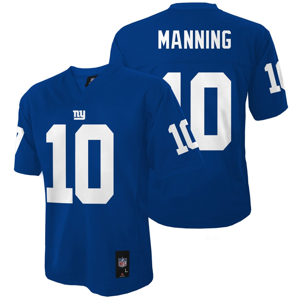 NEW YORK GIANTS Boys' Manning #10 Replica Jersey - ROYAL BLUE