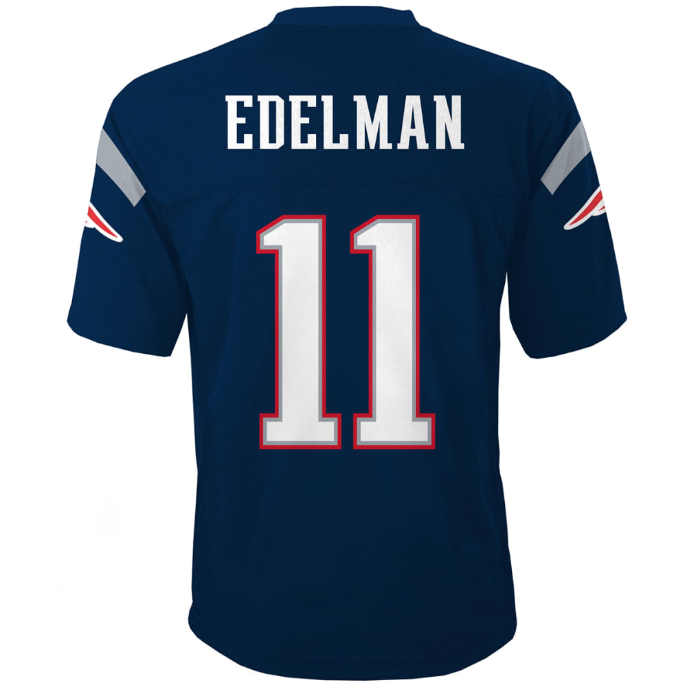 NEW ENGLAND PATRIOTS Boys' Edelman #11 Mid-Tier Jersey - NAVY