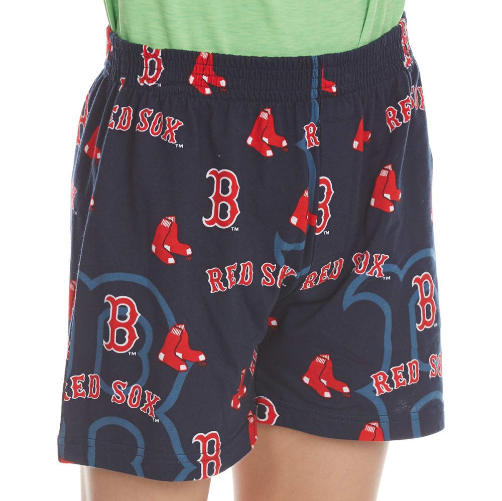 BOSTON RED SOX Boys' Keynote All-Over Print Boxer Shorts - NAVY
