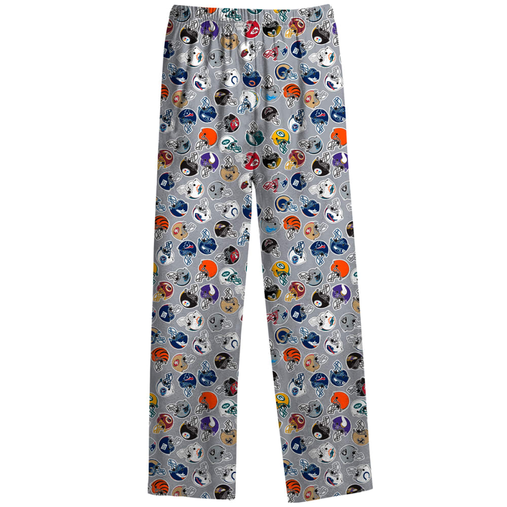 REEBOK Boys' NFL All-Over Print Lounge Pants - BLACK/STEEL/TROPICAL