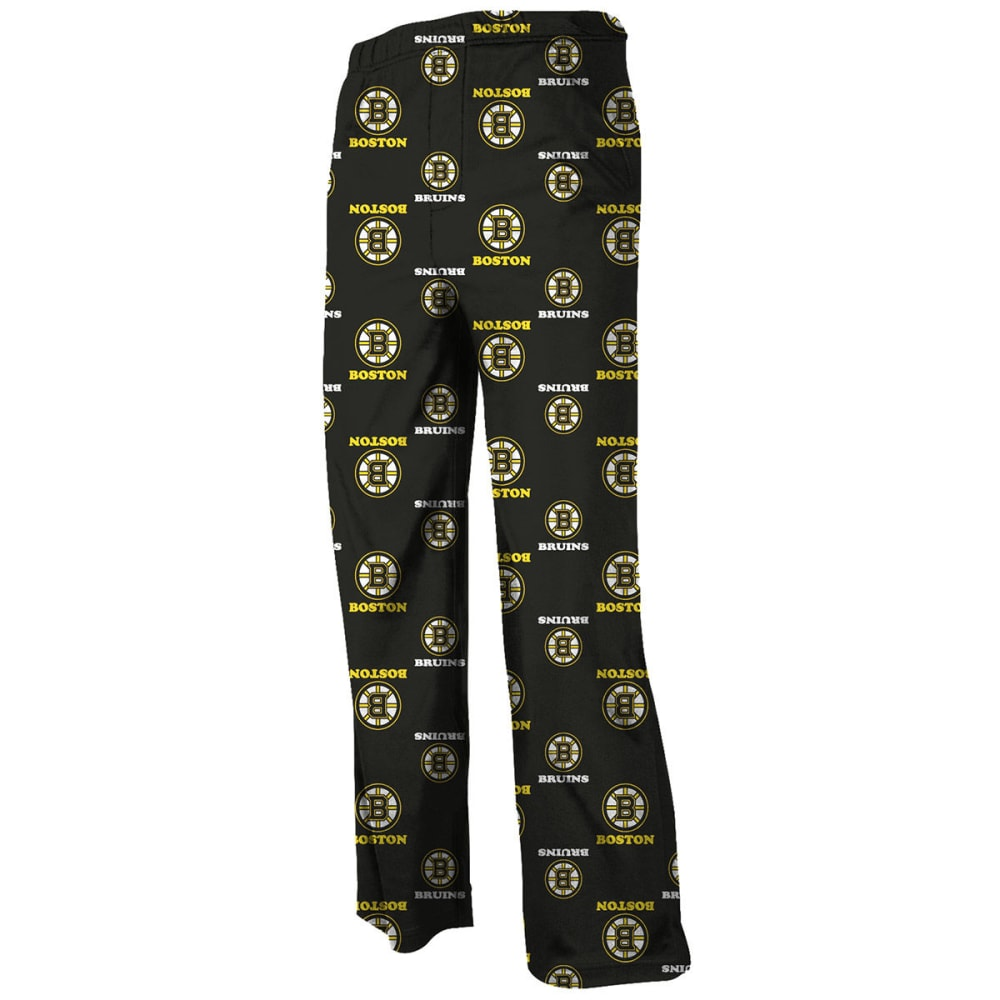 REEBOK Boys' Boston Bruins Printed Lounge Pants - GREY HOUNDSTOOTH