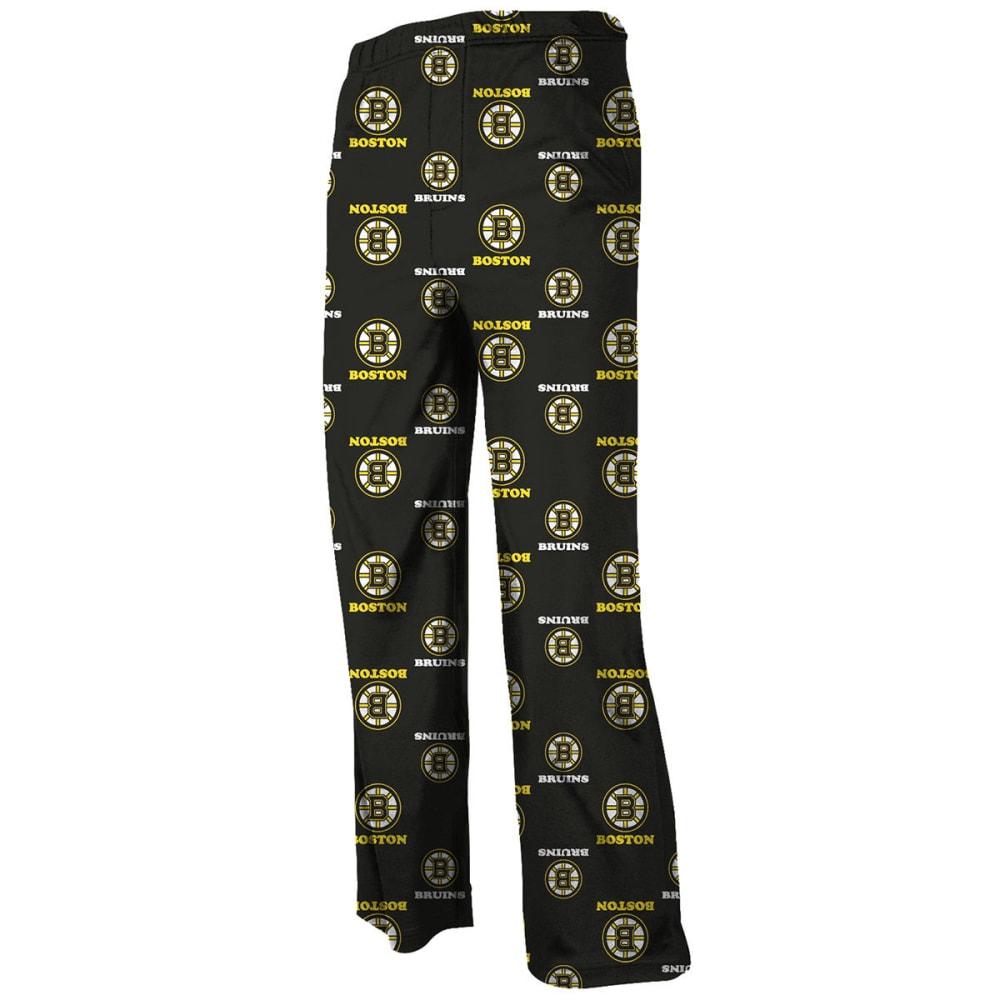 REEBOK Boys' Boston Bruins Printed Lounge Pants - GREY HOUNDSTOOTH